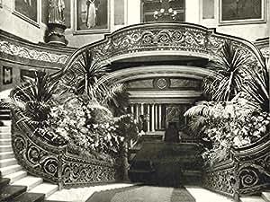 Londres Buckingham Palace- le Grand escalier Style ancien Motif 1896