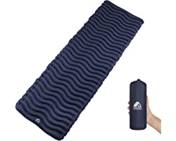Unigear Ultralight Inflatable Sleeping Pad, Compact Air Camping Mat,Lightweight Camping Mattress for Backpacking, Hiking and