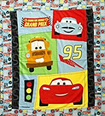 """3D Cars Quilt Panel on Flannel Fabric Panel (Great for Quilting, Sewing, Craft Projects, Blanket, Wall Hangings, and More) 36"""" X 42"""""""
