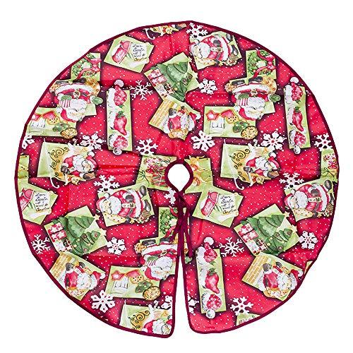 Serria® Christbaumschmuck Durchmesser 60cm Roter Weihnachtsbaumrock Verleihen Sie Ihrem Weihnachtsbaum und Ihrer Wohnkultur mehr Urlaubsatmosphäre