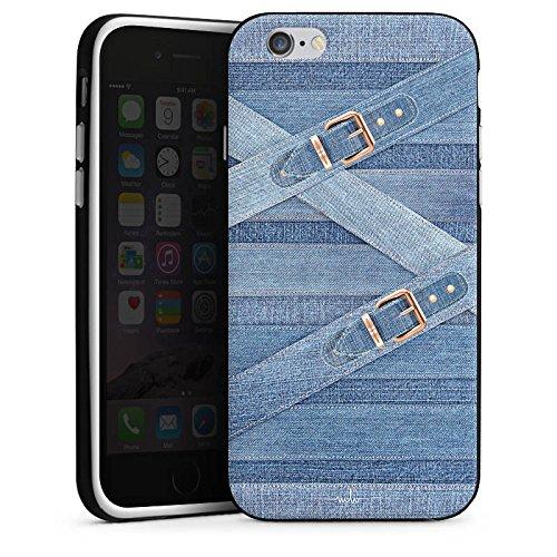 Apple iPhone X Silikon Hülle Case Schutzhülle Marina Hoermanseder Schnallen Jeans Silikon Case schwarz / weiß