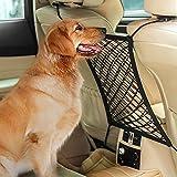 ZZBM Auto-Hundebarriere und Autositz-Organisator, universelle dehnbare Rücksitz-Sperre, Netz, Aufbewahrungsnetz, verhindert das Stören von Kindern und von Haustieren.