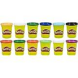 Play Doh - Pack 12 Botes Colores Frios (Hasbro E4830F02)