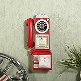 BEEST-¿El antiguo teléfono vintage adornos colgantes creative cafe restaurante tienda de decoración de pared,A,gules