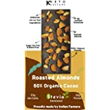 Nepenthe Coffee and Chocolates Keto Sugar-Free Almonds and Walnuts Unsweetened Dark Chocolate, 60 g