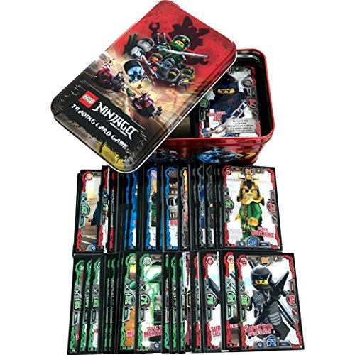 Blue Ocean Lego Ninjago Serie 3 Trading Cards Game alle 250 verschiedenen Sammelkarten + große rote TIN Box + Bonus Karte aus Serie 1 NRG Zane LE2