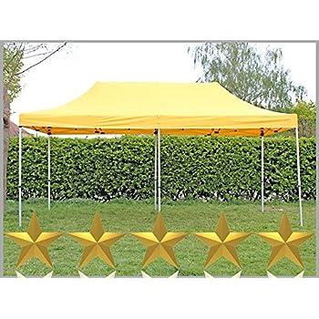 Faltzelt Faltpavillon 3x6m 6x3m gelb Partyzelt Pavillon Verkaufszelt wasserdicht