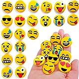 German Trendseller® - 24 x emoji pins┃bouton┃émoticôn┃l'anniversaire d'enfant┃ petit cadeau┃smiley┃ happy face┃