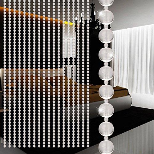 Cortina de cuentas de cristal hunpta lujo salón o dormitorio ventana