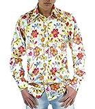 Flower Power 70er Jahre Hemd geblümt M