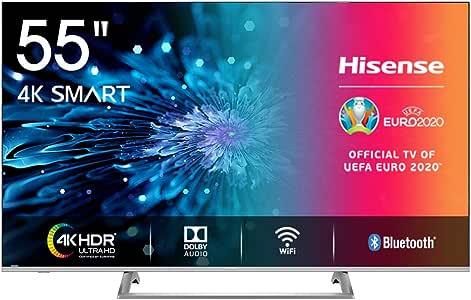 "Hisense H55BE7400 Smart TV LED Ultra HD 4K 55"", Dolby Vision HDR, Wide Colour Gamut, Unibody Design,Tuner DVB-T2/S2 HEVC Main10 [Esclusiva Amazon - 2019]"