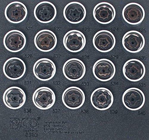 BGS 8963 , Felgenschloss-Werkzeug-Satz für VAG , 20-tlg. , Volkswagen VW