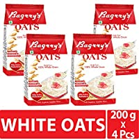 Bagrry's White Oats,800gm Pouch (200gm X 4)