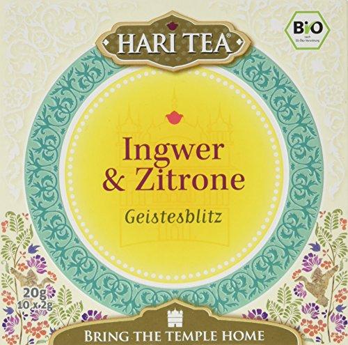 Hari Tea Geistesblitz / Rosige Zeiten für graue Zellen Ingwer und Zitronentee, 2er Pack (2 x 20 g) - Bio - Ingwer-pfefferminz-tee