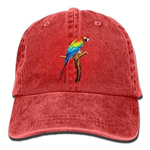 Parrot Denim Baseball Caps Hat Adjustable Cotton Sport Strap Cap for Men Women la Cap -
