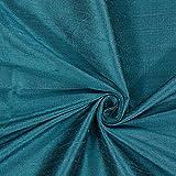 Fabulous Fabrics Dupionseide Stoff Schimmer – Petrol —