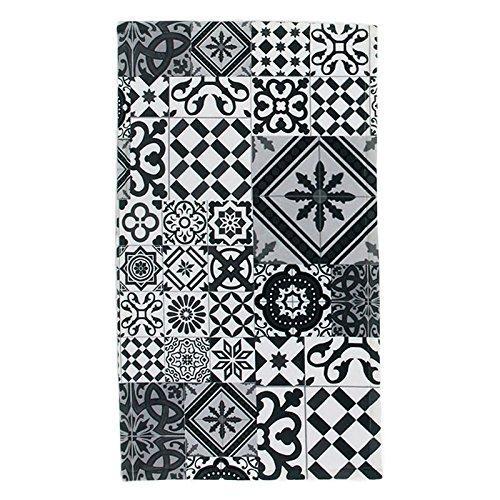 tapis-motifs-carreaux-de-ciment-noir-gris-40x60cm-toodoo-monbeautapis-polyester-extra-doux