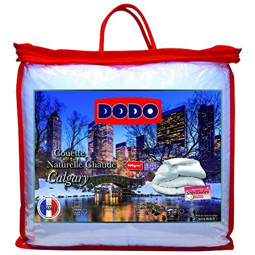 Dodo 40375260 Calgary Couette Chaude au Garnissage Naturel Coton Blanc 260 x 240 cm