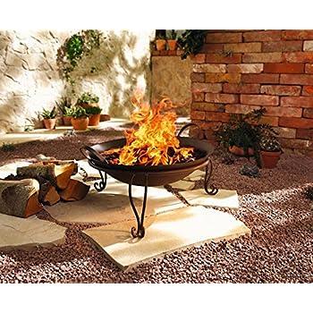 2tlg Feuerschale Rostoptik Garten Feuerkorb Feuerstelle