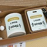 Pack taza y etiqueta de viaje Vámonos a hacer locuras