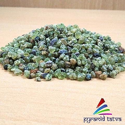 Péridot Raw pierres naturelles Original Pierre Poids–200g/m² pour–Assertivité, Prospérité et Bonheur gratuit Lot de 3Lapis Lazuli Pyramide