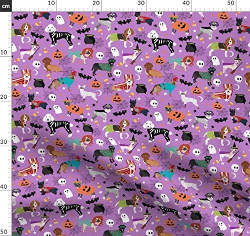Hund, Hunde, Kostüm, Halloween, Gespenstisch, Hunde Stoff Stoffe - Individuell Bedruckt von Spoonflower - Design von Petfriendly Gedruckt auf Synthetik Jersey