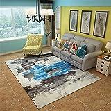 ZGZVSZJL Teppich, Modern Minimalist Abstrakte Kunst Sofa Couchtisch Teppiche North im europäischen Stil Wohnzimmer rechteckig Schlafzimmer mit Etagenbett und Teppiche, Stil 3,1.4M M * 2m