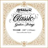 D\'Addario Corde seule en nylon pour guitare classique rectifiée D\'Addario NYL040, .040