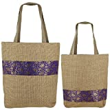 Set Of 2 Sacs Multipurpose Shopping, Jute Shimmer, Natural Fiber-Eco frienly, non...
