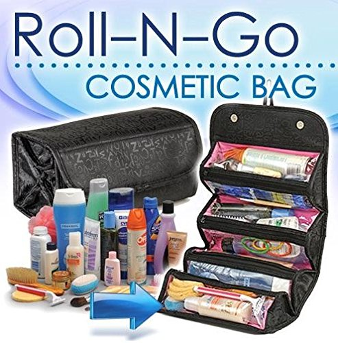 Fossilbeater 4 in 1 Travel Buddy Roll N Go Cosmetic Bag Organizer For Girls Ladies Women-Black by Wyane Enterprises  available at amazon for Rs.222