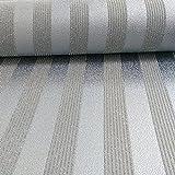 A.S. Création Tapete Bling Bling Vliestapete mit starkem Glitterauftrag Streifentapete - Silber 273260