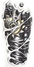 Generic Temporary Tattoo 3D Robot Arm Sticker, 19x12cm (Black, SSRT0088) - 1 Piece