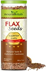 Nourishvitals Superior Quality Roasted Flax Seeds - 200 g