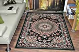 Large Traditional Quality Classic Vintage Green Marrakesh Floral Rugs 3 Colou...
