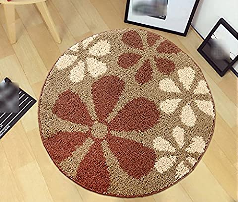 Round carpet, Non-slip Swivel chair Foot pad Computer chair cushion modern Simple child carpet Door mats living room bedroom Bedside mat Diameter 80cm ( Color : #1 )