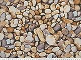 Zanderino ab 1m: Schöner Dekostoff, Steine, beige-braun 140cm breit
