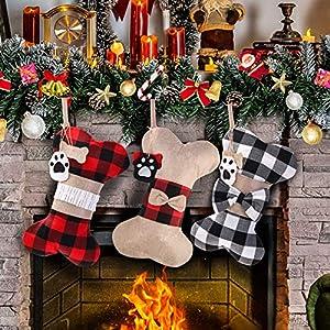 Calcetín de Navidad para Perros,
