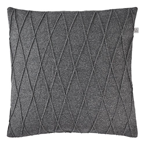 Olandese Decor movet Cuscino Cover, Lana, Grigio scuro, 45 x 45 cm