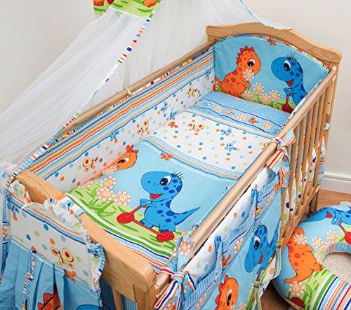 3 Pcs Nursery Bedding Set , All-round Bumper (Fits Cot Bed 140x70 cm, Pattern 20