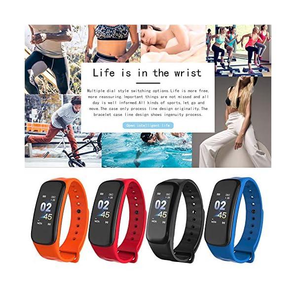 VEVICE - Pulsera de actividad, con control de ritmo cardíaco, contador de pasos, rastreador de actividad inteligente… 8
