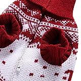 YZBear Hundebekleidung Hundemantel Hundejacke Weihnachten Rentier Hundepullover Warm Winter für kleine und große Hund - 5