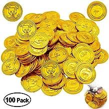 MMTX Llenadores de Bolsos de Fiesta de Monedas de Tesoro de Oro para niños, Juguetes