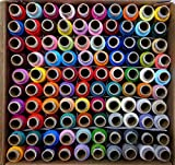 #6: DFH, 100 Thread Spools (25 Shades, each 4 in number) assorted set dark