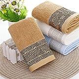 Frottiertücher Duschtücher Handtücher Gästetücher Badetücher mit Kasten Zeichen Weich stark Saugfähig hoch Absorbierend Geschirtücher 100% Baumwolle 70*140cm