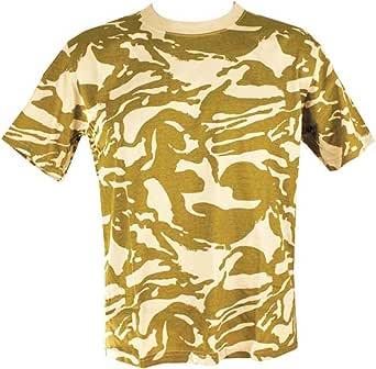 Mens Camo Military/Army T-shirt 100% Cotton (Small, Desert Camo)