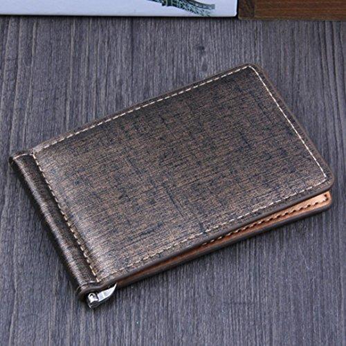 HARRYSTORE Männer Retro Style Business Leder Geldbörse ID Kreditkartenhalter Geldbörse Tasche (Blau) Gold
