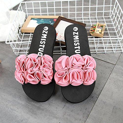 SOMESUN Sandali Pantofole da Donna Estate Interno All'aperto Infradito Spiaggia Scarpe Alto Piattaforma Casuale Morbido Antiscivolo Tempo Libero Sandali Rosa