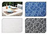Tischdecke FIORE - rutschhemmend - für innen & außen - 140x180cm weiß