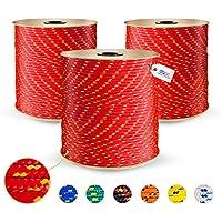DQ-PP Cuerda de Polipropileno | Rojo | Longitud 20 metros | Grosor 4 milímetros | Rollo de Soga | 100% natural | multiusos | Cuerda de Amarre