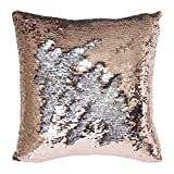 Mermaid Pillow Case, Play Tailor Magic Reversible Sequins Pillow Cover Throw Cushion Case 40x40CM